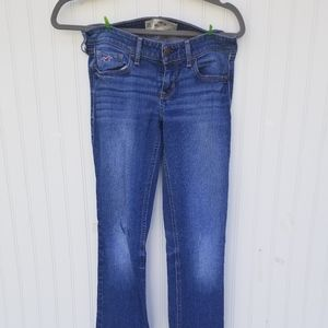 Hollister 5R Bootcut washed demin Jeans.